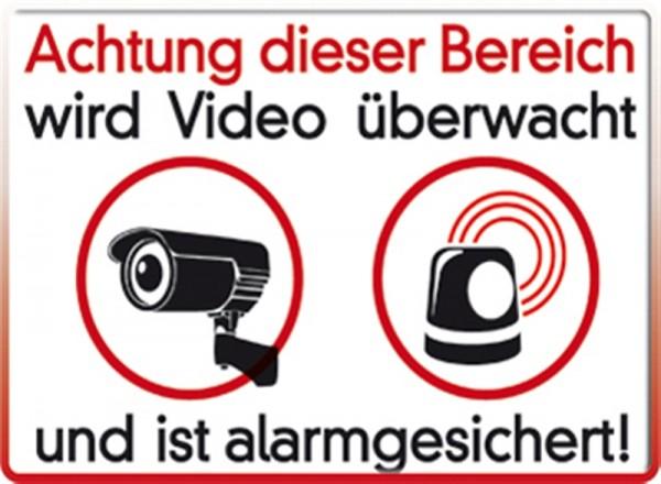 Achtung dieser Bereich wird Video überwacht und ist alarmgesichert!