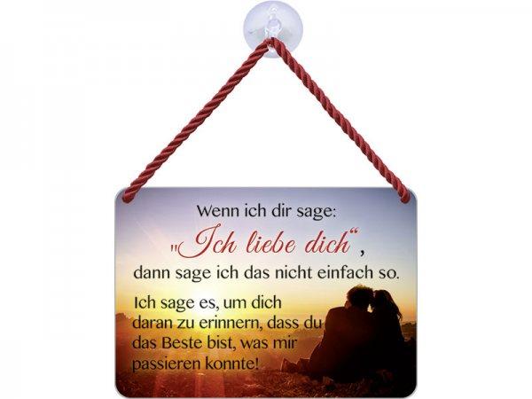 Kulthänger Blechschild Ich liebe dich KH003