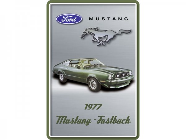 Blechschild Ford Mustang Fastback 300/489