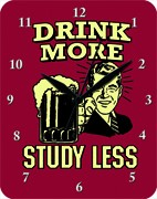 Drink more study less