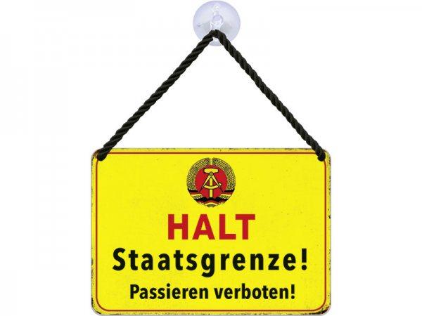 Kulthänger Blechschild DDR Staatsgrenze KH139