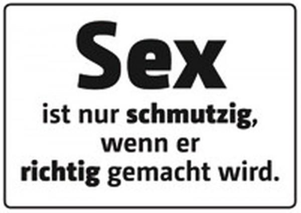 Sex ist schmutzig