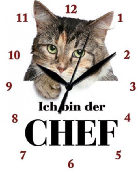 Uhr Katze Ich bin der Chef