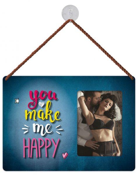 Kult-Rahmen Blechschild you make me happy KR030