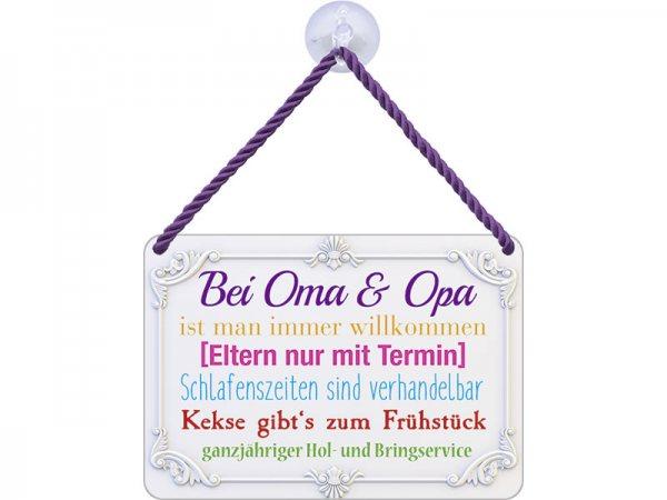 Kulthänger Blechschild Oma & Opa KH082