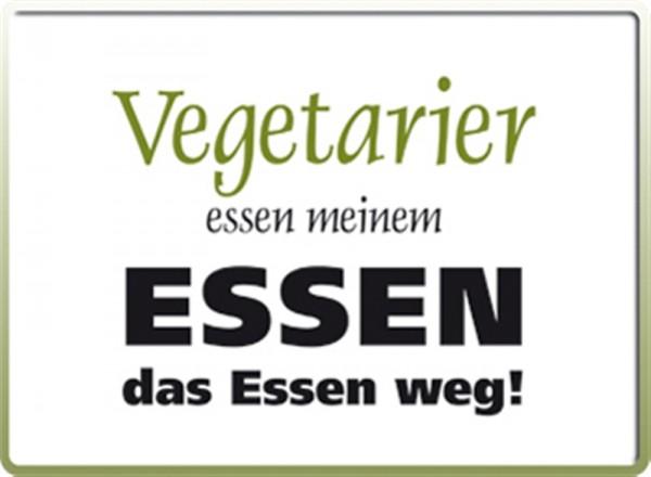 Vegetarier essen meinem Essen das Essen weg!