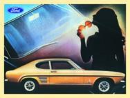 Blechschild Ford Mustang Sun