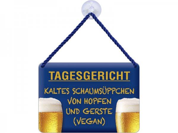 Kulthänger Blechschild Tagesgericht KH043