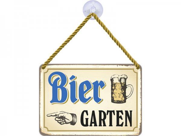 Kulthänger Blechschild Biergarten KH056