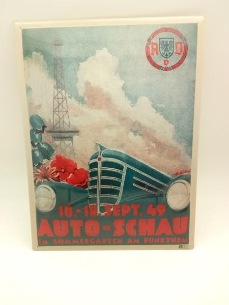 AVD Auto-Schau 1949 Blechschild