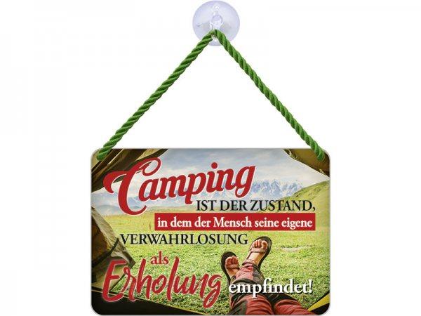 Kulthänger Blechschild Campingerholung KH135