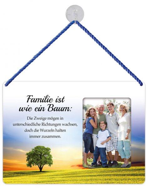 Kult-Rahmen Blechschild Familie/Baum KR015