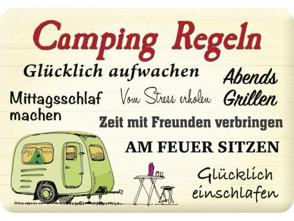 Kulthänger Blechschild Camping KH081
