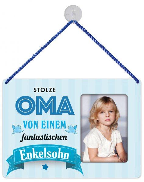 Kult-Rahmen Blechschild Oma Enkel KR027