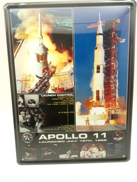 Blechschild Apollo 11