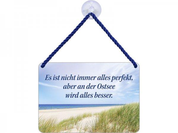 Kulthänger Blechschild Ostsee besser KH103