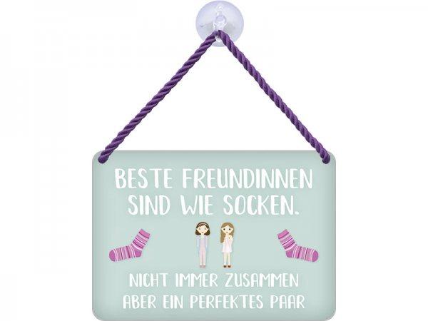 Kulthänger Blechschild Freundinnen KH122