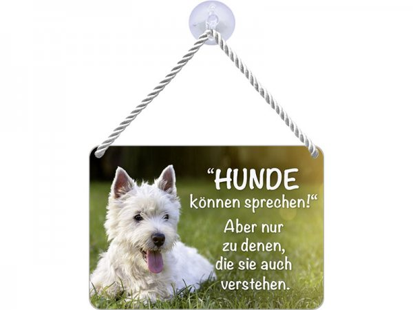 Kulthänger Blechschild Hunde sprechen KH086