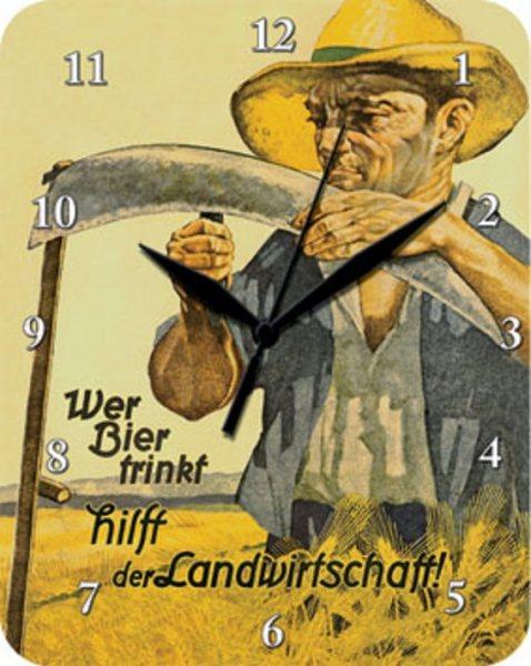 Uhr Wer Bier trinkt hilft der Landwirtschaft