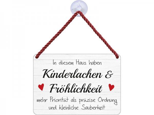 Kulthänger Blechschild Kinderlachen und Fröhlichkeit KH068