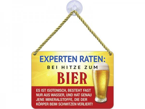 Kulthänger Blechschild Expertenbier KH134