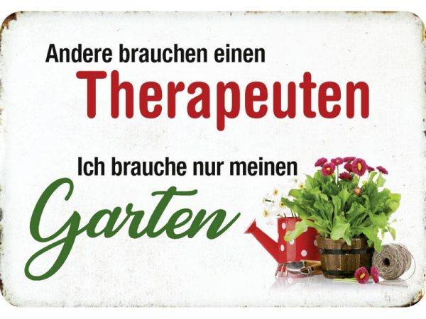Kulthänger Blechschild Garten Therapeuten KH149