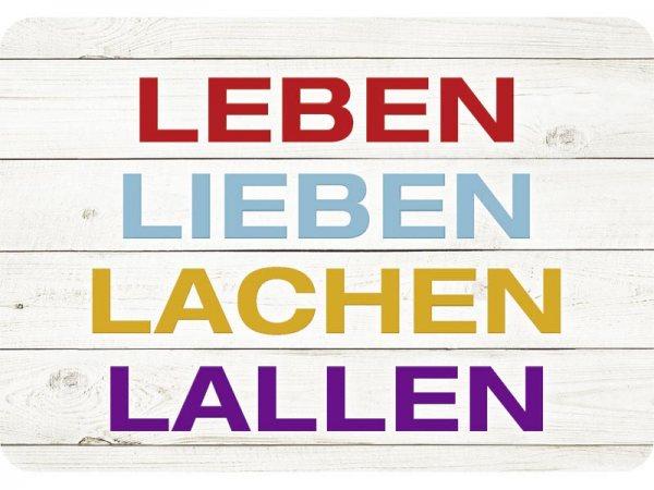 Kulthänger Blechschild Lieben Leben Lachen Lallen KH128