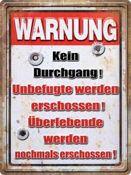 Warnung Kein Durchgang